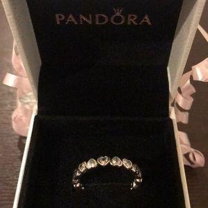 Pandora linked heart ring ♥️
